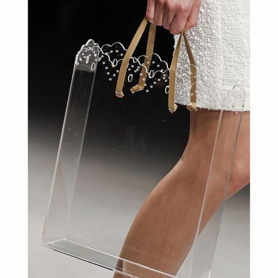 Laser treated Plexiglas shopping bag