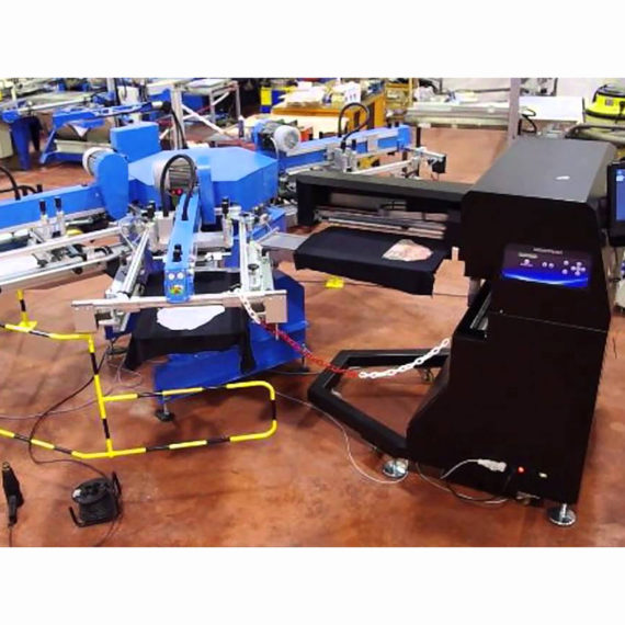 Carousel of screen printing with the Inkjet printing station