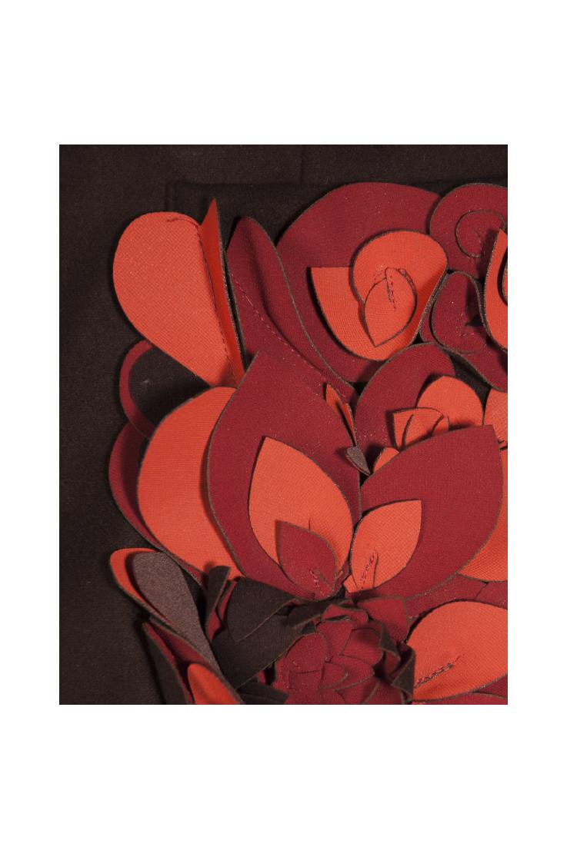 Detail: Petals appliqué on a patch pocket
