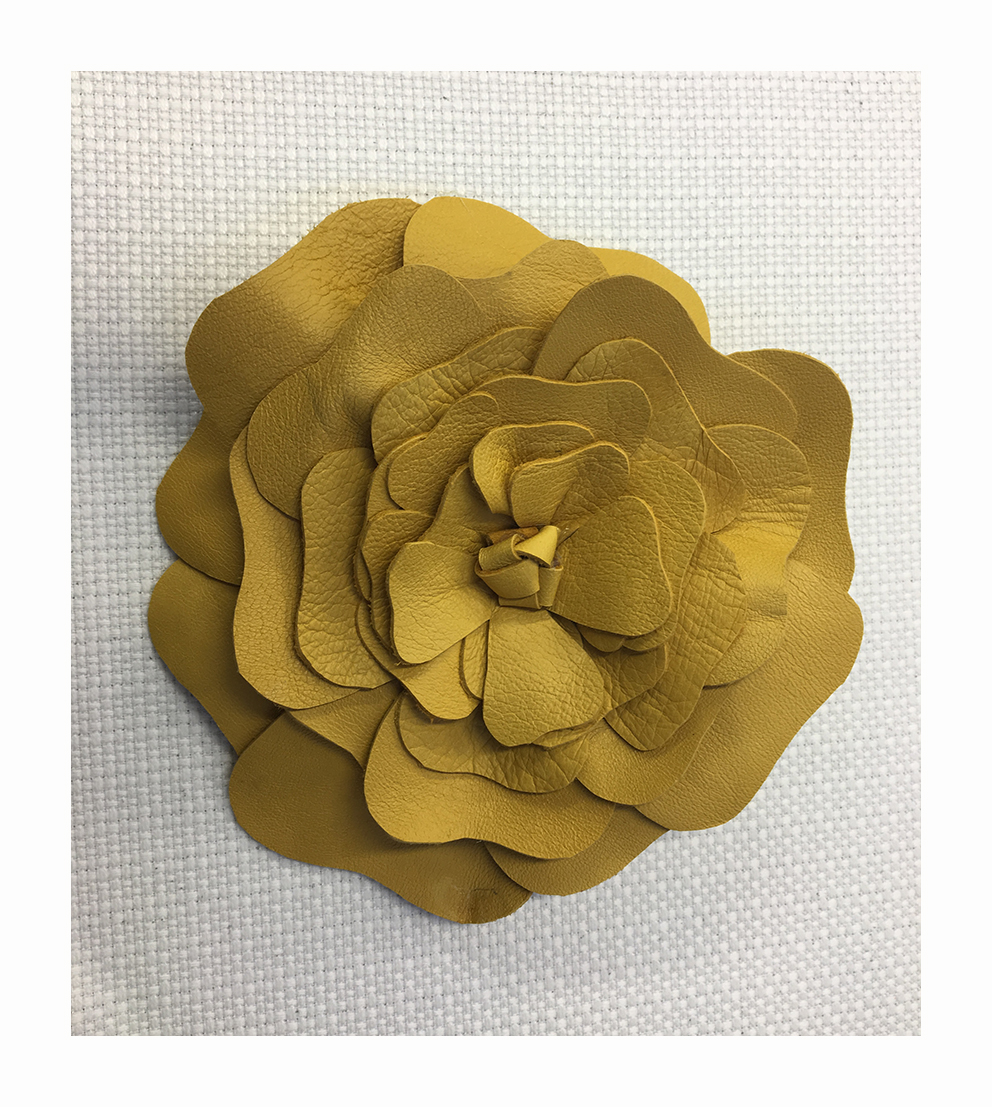 Maxi flower made in cut nappa leather